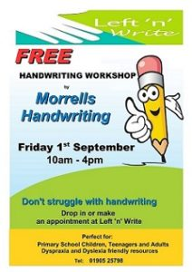 Wise Owl Poster Handwriting workshop Sept 17-1 smallest